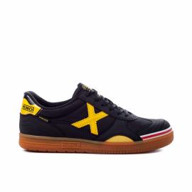Zapatillas fútbol Munich Gresca 02 negro amarillo unisex
