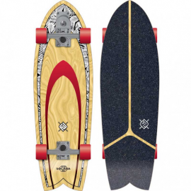 """Skateboard Flying Wheels Solana Blackleaf 32"""" Surfskate"""