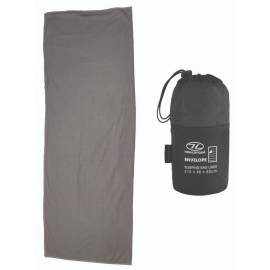Saco sábana Highlander Sleeping Bag Liner Envelope gris