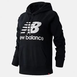 Sudadera New Balance Essentials Pullover negro mujer