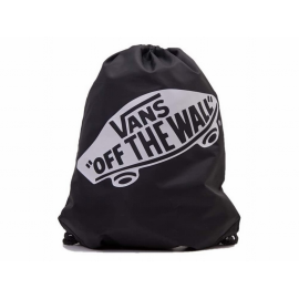 Mochila saco Vans Benched bag negro y blanco