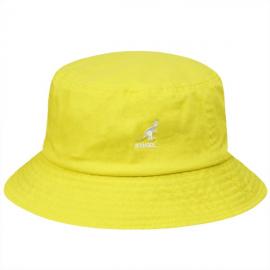 Sombrero Pescador Kangol Washed Bucket amarillo