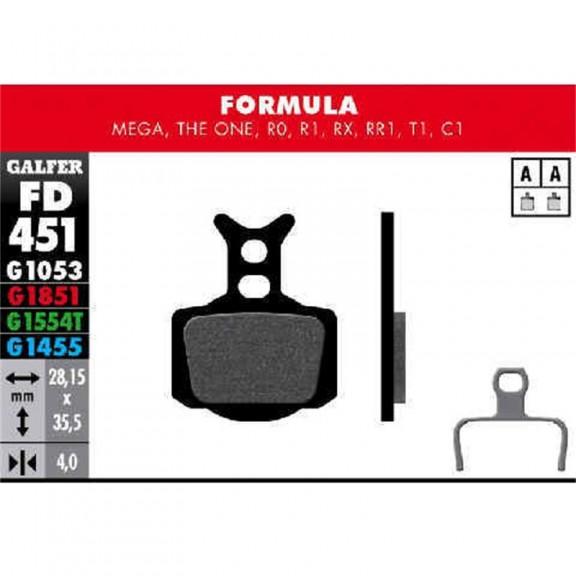 Par pastillas Galfer Formula Mega,  The One Ro, R1, Rx, RR1,
