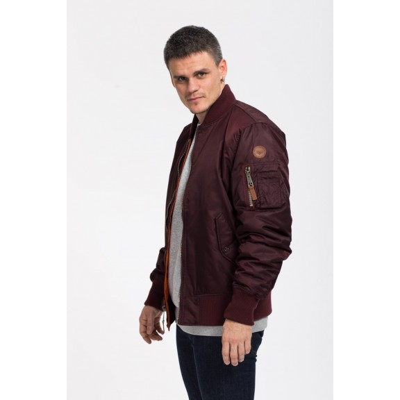 Cazadora Bomber Top Gun nylon jacket burdeos