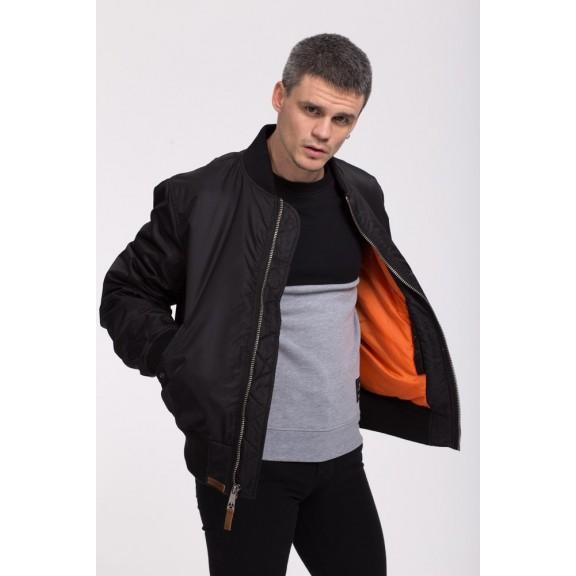 Top Gun mens woven nylon jacket black