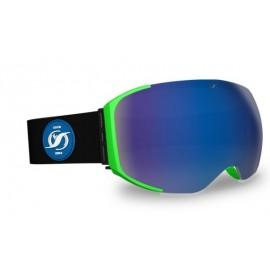 Mascara Hysteresis Freeride  verde lente azul cinta negra
