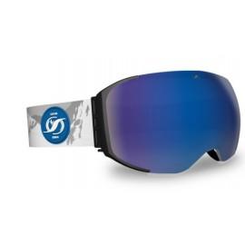 Mascara Hysteresis Magnet negro lente azul cinta montañas