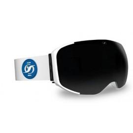 Mascara Hysteresis Magnet negro lente plata cinta blanca