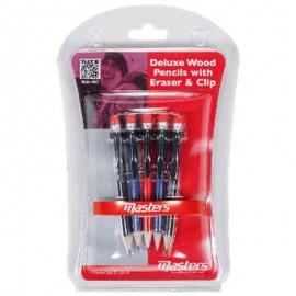 Masters pack 5 lápices con goma y clip ZDGA0140