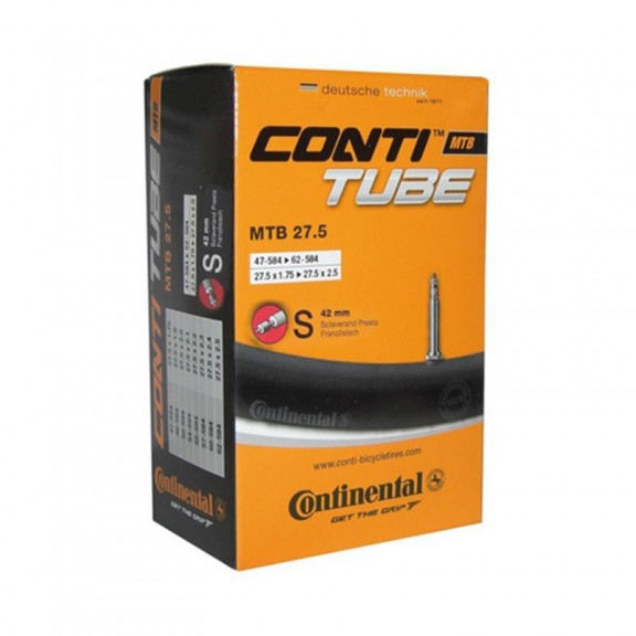 "Camara Continental 27.5"" x 1.75 a 2.40  presta 40 mm"