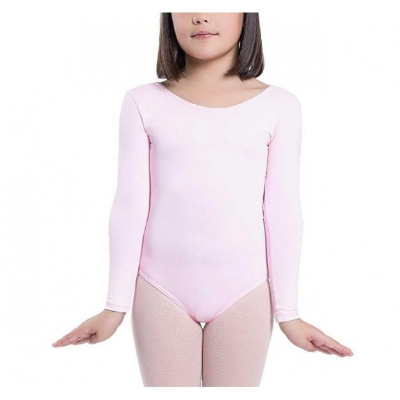 Maillot ballet Elastic manga larga rosa