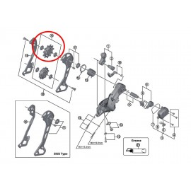 Polea juego guia/tension Shimano cambio RD-M8000 XT