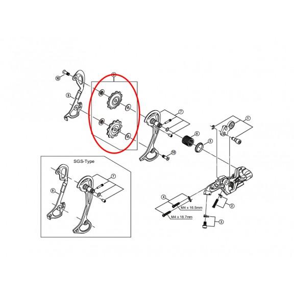 Shimano polea juego guia/tension RD-M786 ,RD-M773 5XF98130