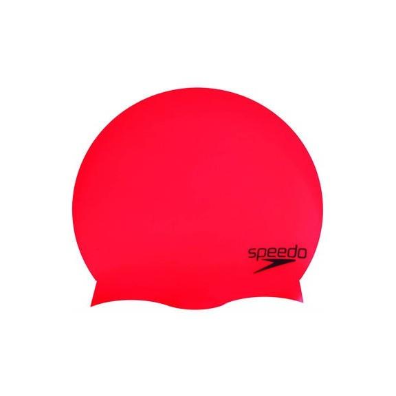 Gorro  Silicona Plain Moulded  Speedo rojo
