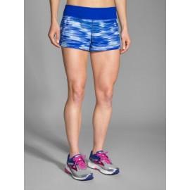 "Pantalón corto running Brooks Chaser 3"" mujer azul"