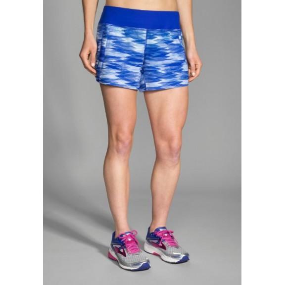 "Pantalón corto running 5"" Chaser mujer azul"