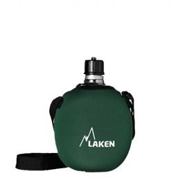 Laken Cantimplora Clasica 1L+Funda Neopreno verde