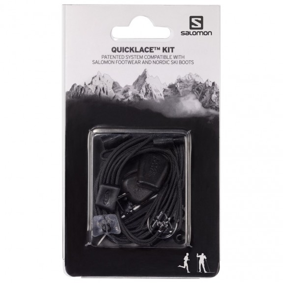 Cordones Salomon Quicklace Kit negros