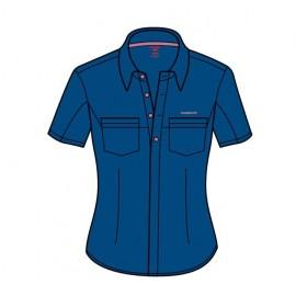 Camisa m/c trekking Trango Crika azul mujer