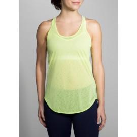 Camiseta tirante running Brooks Ghost mujer amarilla