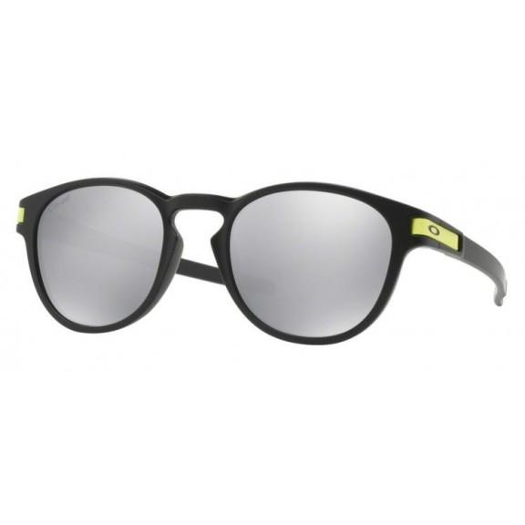 599cda9707 Gafas Oakley Latch Vr46 Negro Mate Lentes Chrome Iridium - Deportes Moya