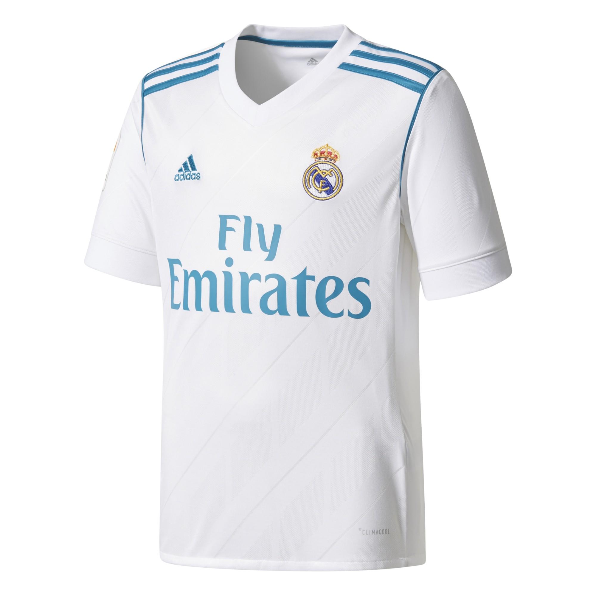 Camiseta Adidas Real Madrid Blanco Junior - Deportes Moya 672420dc2c6