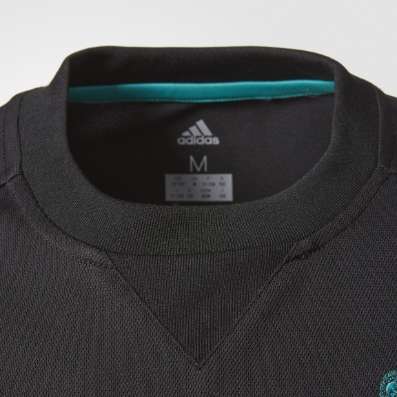 Camiseta adidas Real Madrid 2ª equipación negro niño