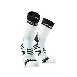 Calcetines Compressport Bike Ultralight  blanco-negro