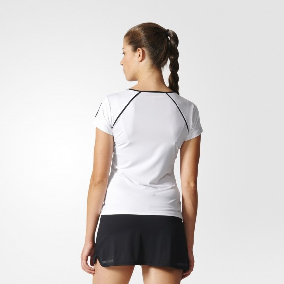 Camiseta de tenis y padel adidas Club 2017 blan/negra mujer
