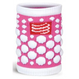Muñequera Compressport Sweat band 3D.dots rosa fluor