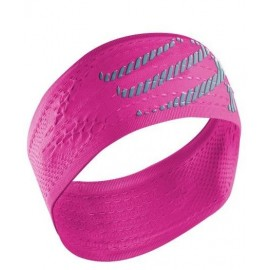 Cinta de pelo Compressport Headband on/off rosa fluor