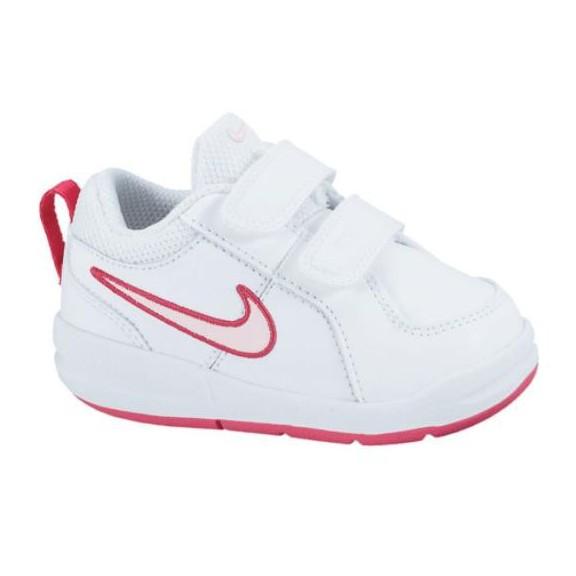 Zapatillas Nike Pico 4 Tdv Blanco Rosa Bebe