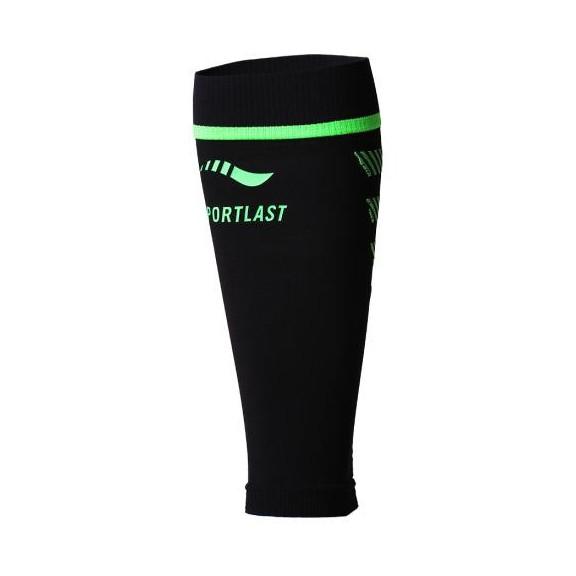 Pantorrillera de compresion Sportlast Trail Pro negro/verde