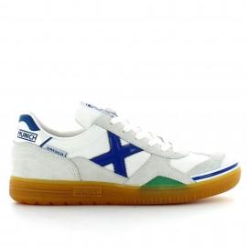 Zapatillas fútbol sala Munich Gresca 01 blanco/azul hombre
