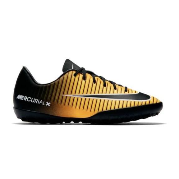 Botas de futbol Nike Jr Mercurialx Victory VI Tf negro/amari