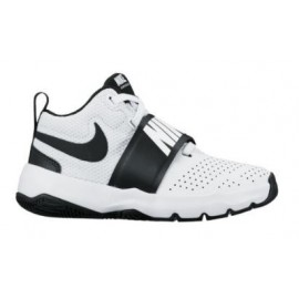 Zapatillas de baloncesto Nike Team Hustle 8 blanco/negro niñ