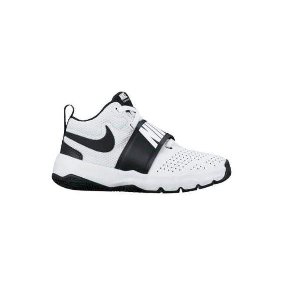 Zapatillas de Baloncesto Nike Team Hustle 8 Blanco Negro Niñ ... 1d28f6ebdf57f