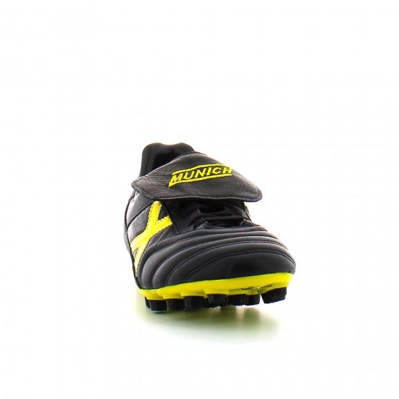 Botas futbol Munich Mundial U25 negro/amarillo hombre