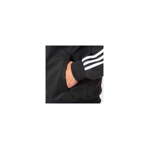 94cd6b97453d4 Sudadera Con Cremallera Adidas Ess 3S Ttop Tri Negro - Deportes Moya
