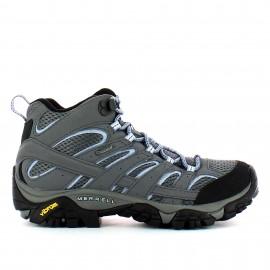 Zapatillas trekking Merrel Moab 2 Mid GTX gris mujer