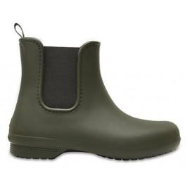Botas de agua Crocs Freesail Chelsea Boot verde mujer