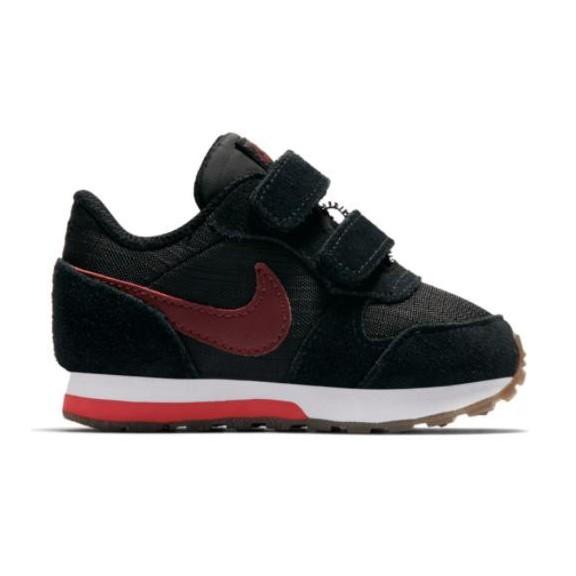 Zapatillas Nike Md Runner 2 (Tdv) Negro Rojo Bebé - Deportes Moya e55cf207c6018