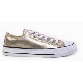 Zapatillas lona Basquet oro niña
