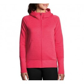 Sudadera Brooks Fly-By Hoodie rosa mujer