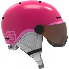 Casco Esquí Salomon Grom Visor rosa junior