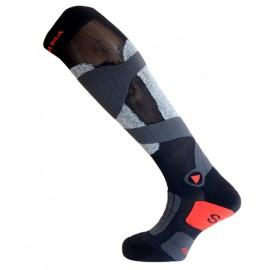 Medias Enforma Ski Rookie 2 negro gris rojo