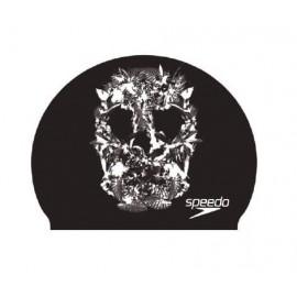 Gorro natación Speedo Slogan Print negro/blanco