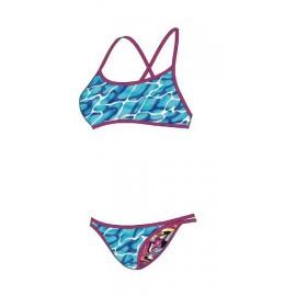 Bikini Speedo Waterflow Flip Reverse rosa/turquesa/azul W
