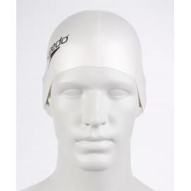 Gorro natación silicona Speedo Plain Flat blanco
