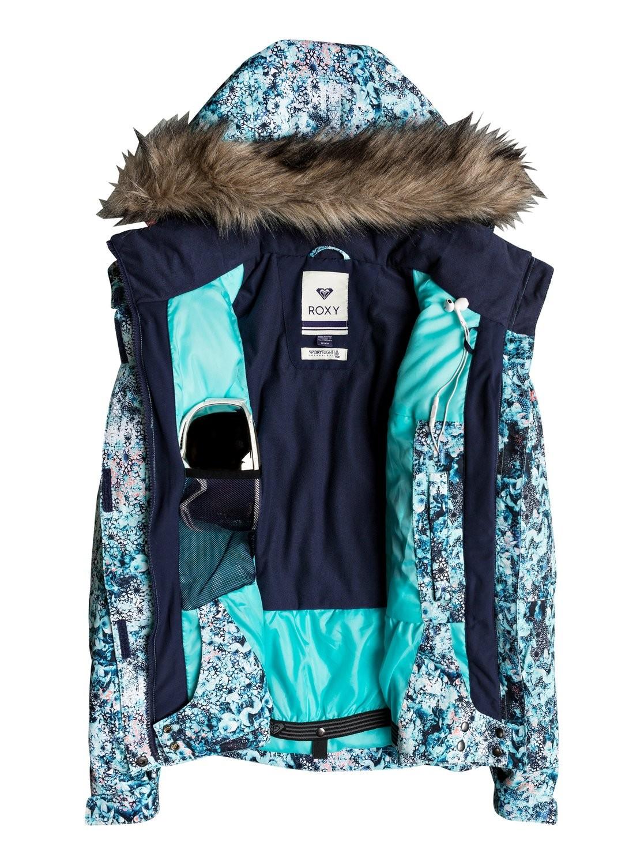 En Deportes Roxy Jet Estampado Azules Ski Moya Mujer Chaqueta IOBvq 093739149d9a